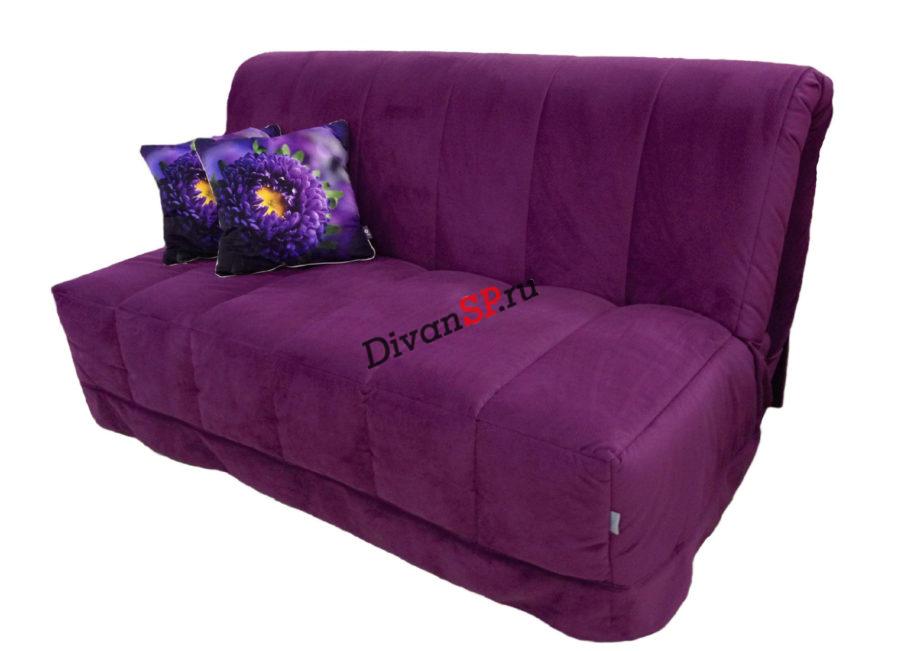 Амелия - бордовый диван аккордеон со съёмным чехлом