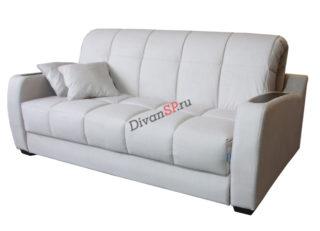 Белый диван-аккордеон Меркурий со съёмным чехлом и декором