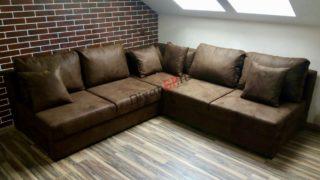 Модульный диван с ортопедическим спальным местом Бостон коричневый