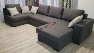 Раскладной модульный диван с ортопедическим спальным местом Бостон серый