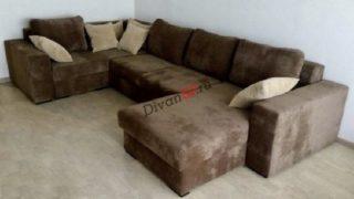 Модульный диван-кровать Бостон коричневый с ортопедическим спальным местом