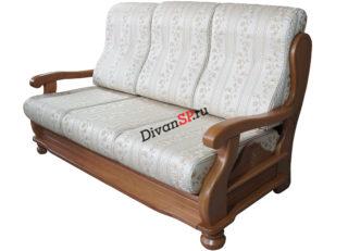 Трёхместный диван с деревянным декором Амадей