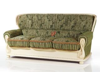 итальянский раскладной диван из массива бука Лион зелёный