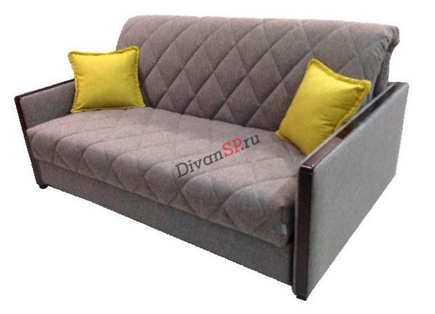 Диван-кровать на базе механизма аккордеон на металлокаркасе коричневый