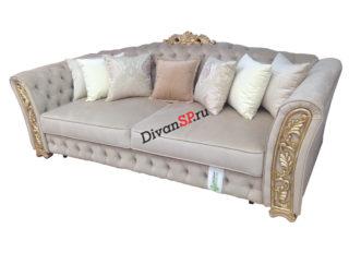 белый Четырёхместный итальянский диван-кровать с декором