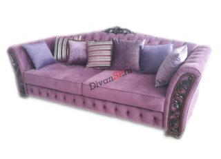 итальянский диван кровать Турин на ножках сиреневый