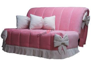 диван-аккордеон Амелия без подлокотников розовый