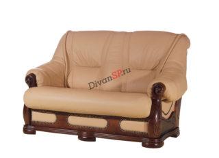 Двухместный классический диван-кровать бежевый