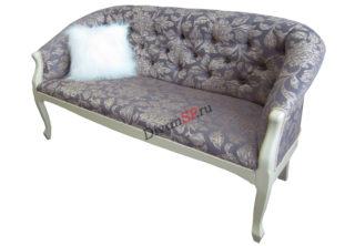 Двухместное кресло с деревянным декором Базилио-2 серое