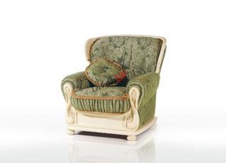 Мягкое кресло из массива бука Лион зелёное