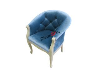 Мягкое кресло на деревянных ножках Базилио-2 синее