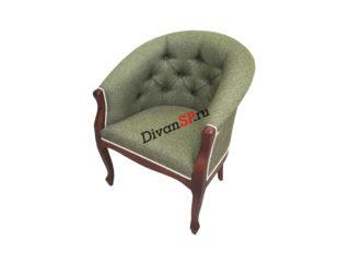 Зелйное кресло Базилио-2 на деревянных ножках