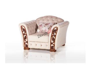 Кресло на ножках Турин белое