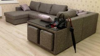 Модульный диван с ортопедическим спальным местом Бостон-36