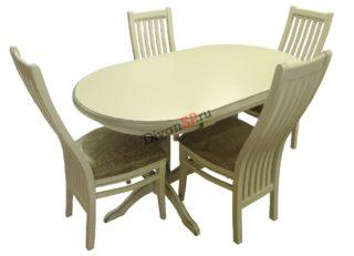 Обеденный стол Грегор из массива бука со стульями