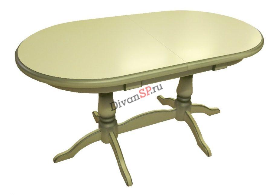 Обеденный стол из массива бука оливковый