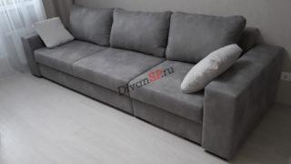 прямой модульный диван Бостон-36 серый