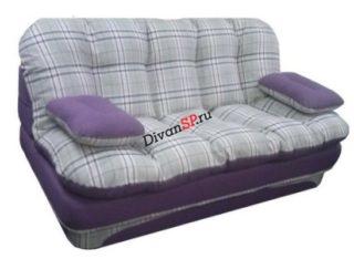 Бескаркасный раскладной диван Элис в клетку