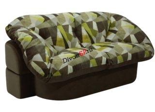 Бескаркасный мягкий диван Мишель коричнево-зеленый