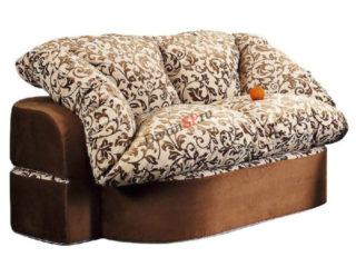 коричневый бескаркасный диван Мишель