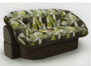 бескаркасный мягкий диван Мишель коричнево-зелёный