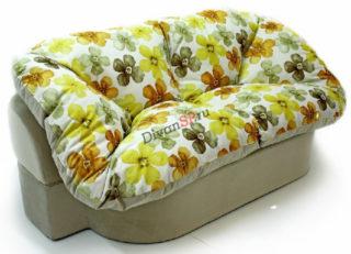 бескаркасный диван Мишель жёлтый