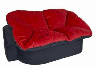 мягкий диван без каркаса Мишель красный