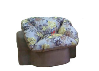 бескаркасное кресло-пуф Мишель коричневое