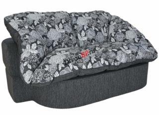 Бескаркасный раскладной диван Мишель серый