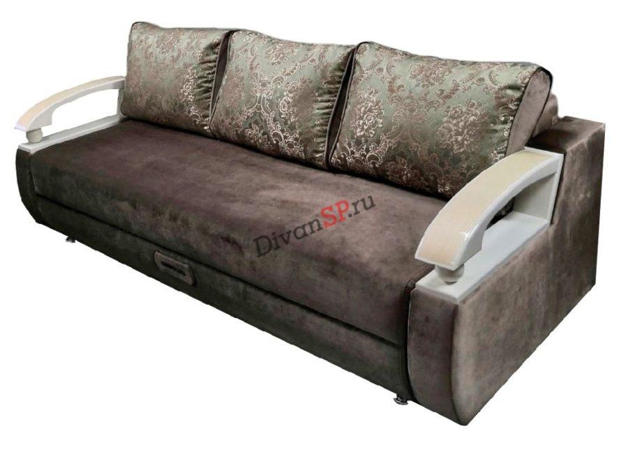 Коричневый диван пантограф (тик-так)