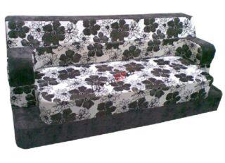 Бескаркасный диван-кровать Ирен чёрно-белый