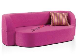 Розовый бескаркасный диван Катрин