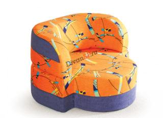 бескаркасное кресло Катрин оранжевое