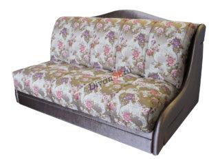 Серый диван аккордеон Дориан без подлокотников