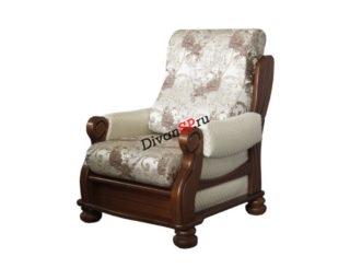 деревянное кресло Орландо из массива бука белое