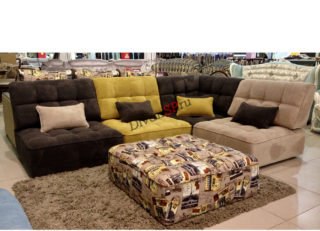 модульная ссистема, угловой диван Домино коричневый
