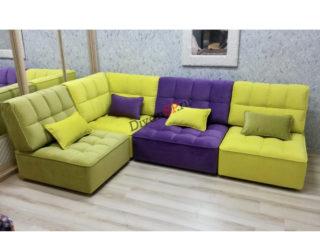 модульный диван Домино жёлтый