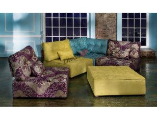 модульный диван Домино из кресельных секций