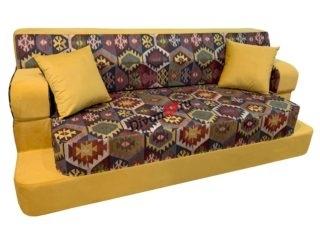 бескаркасный диван Ирен жёлтый