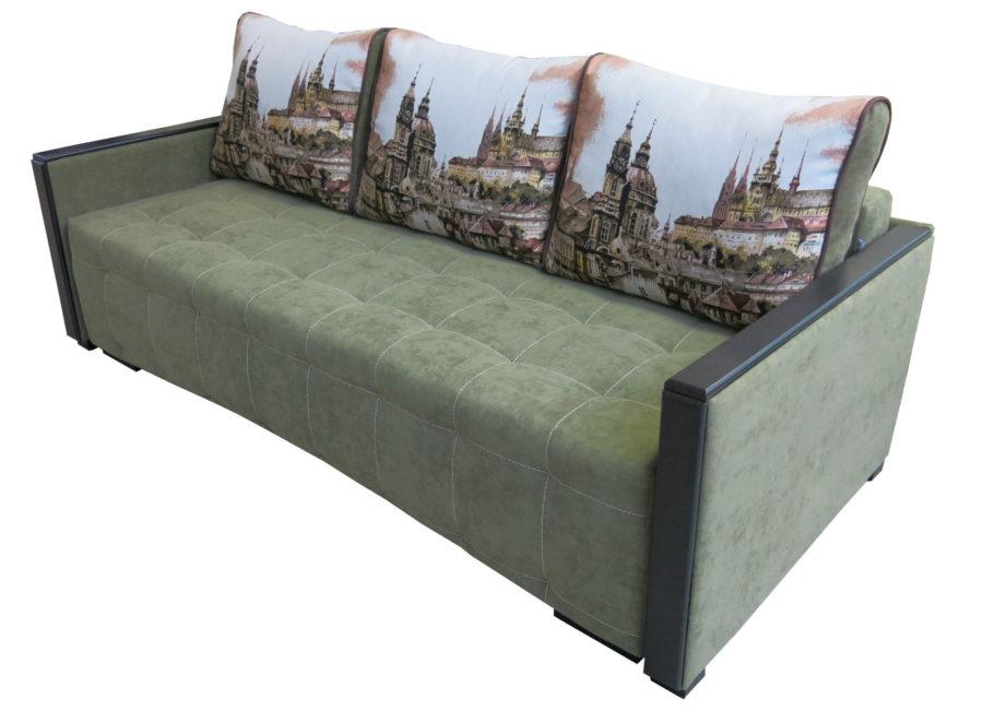 диван-кровать Рондо с шагающим механизмом тик-так зелёный