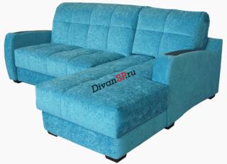 Угловой диван-аккордеон Меркурий голубой