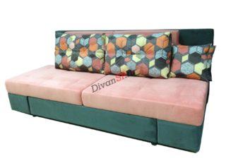 Зелёная еврокнижка, диван-кровать Люкс