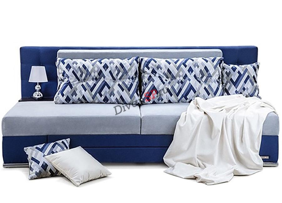 Синий раскладной диван еврокнижка Люкс