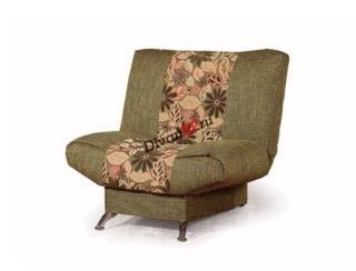 Кресло на металлических ножках Катрин зелёное