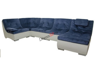 модульный диван-кровать Комфорт синий