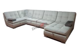 П-образный раскладной модульный диван без подлокотников Комфорт