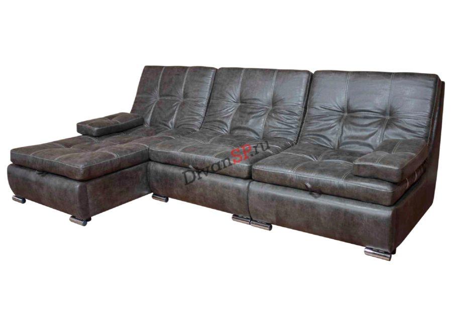 Угловой модульный диван-кровать Комфорт с шезлонгом