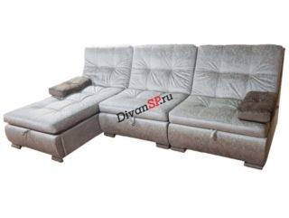 Угловой раскладной модульный диван Комфорт со спальным местом и бельевым ящиком
