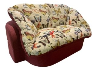 Раскладной диван без каркаса Мишель красный