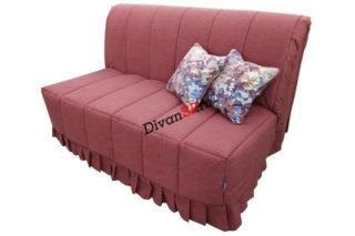 Современный компактный красный диван-аккордеон без подлокотников